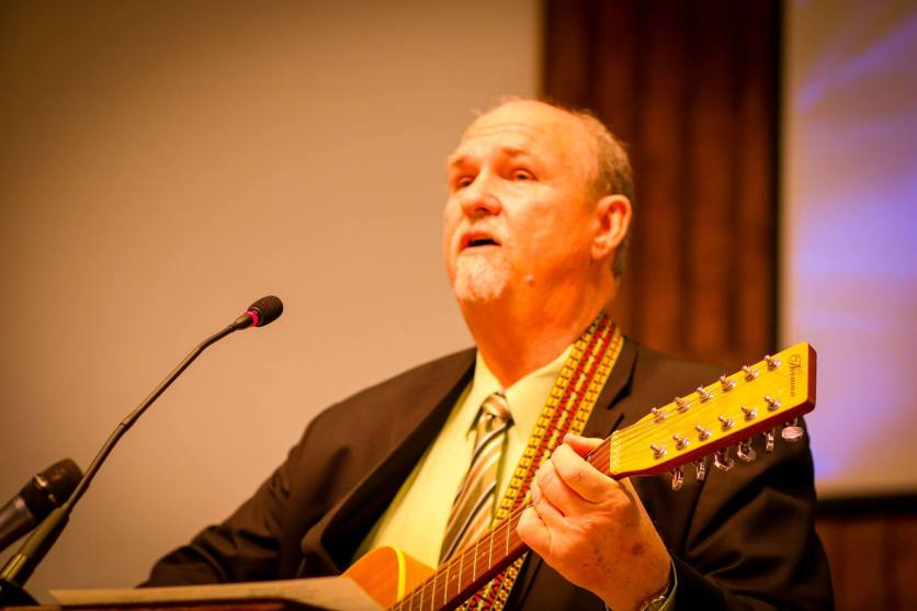 Richard Harrison, former music minister at Glynwood, leads worship